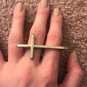 Nasty Gal Jewelry - FREE IF BUNDLED: Cross Two Finger Ring